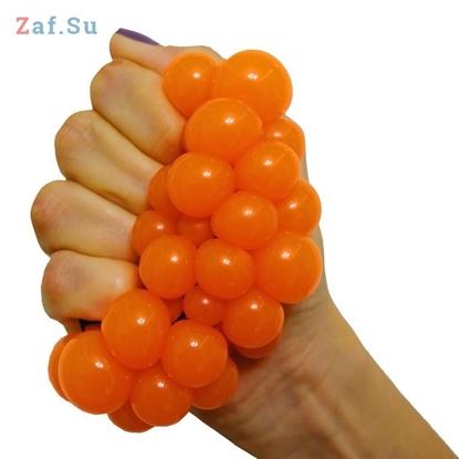 Изображение Стрессбол «Выжимяка» оранжевый