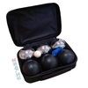 Изображение Петанк, стальной + черный, 6 шаров