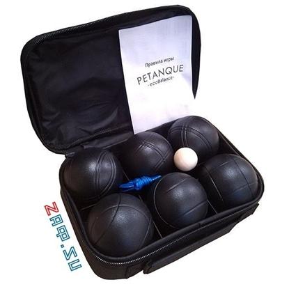 Изображение Петанк, чёрный, 6 шаров