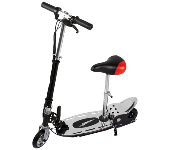 Изображение Электросамокат Zilmer двухколёсный с сиденьем «Z140С» чёрно-серебряный