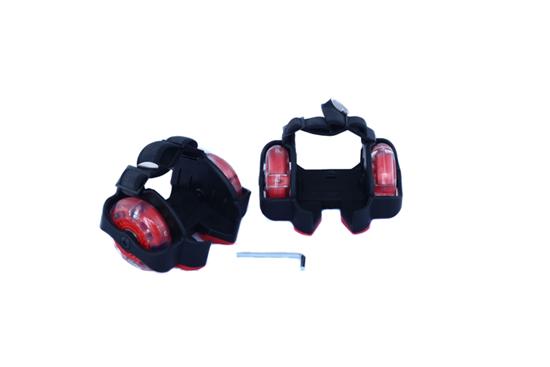 Picture of Ролики-накладки Zilmer «Экстрим» мигающие, чёрно-красный