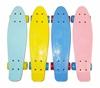 Изображение Скейт Cruiser Board, OPTIMA ABEC 7, голубой с желтыми колесами