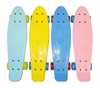 Picture of Скейт Cruiser Board, OPTIMA ABEC 7, желтый с голубыми колесами