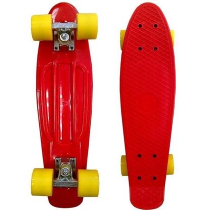 Изображение Скейт Cruiser Board, PRO ABEC 9, красный с желтыми колесами