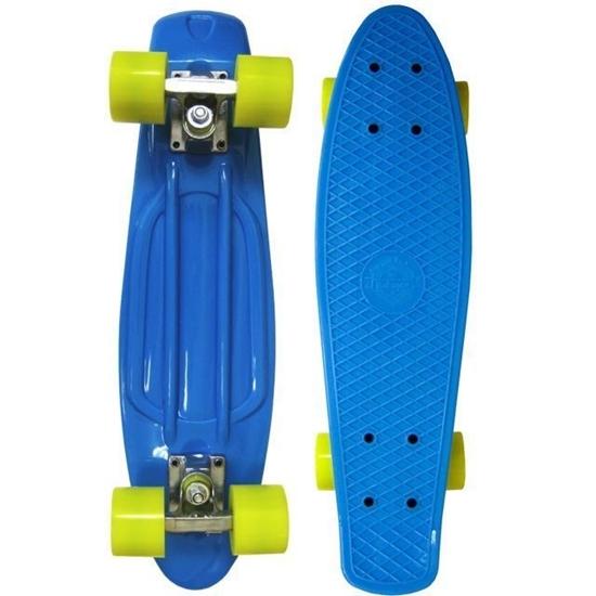 Picture of Скейт Cruiser Board, PRO ABEC 9, синий с желтыми колесами