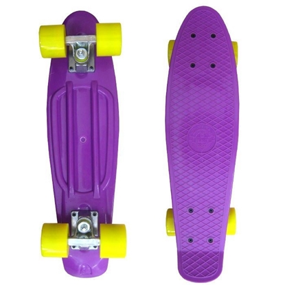 Picture of Скейт Cruiser Board, PRO ABEC 9, фиолетовый с желтыми колесами