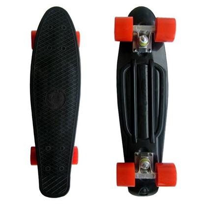 Picture of Скейт Cruiser Board, PRO ABEC 9, черный с красными колесами