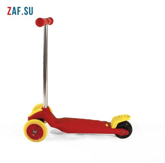 Изображение Самокат детский трехколесный (красно-желтый) до 50 кг