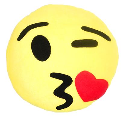 Изображение Подушка смайлик «Поцелуй»