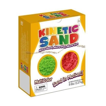 Изображение Цветной кинетический песок 2,27 кг зелёный + красный