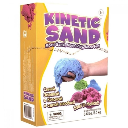 Изображение Цветной кинетический песок 3 кг