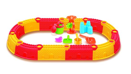 Изображение Песочница сборная овальная Hualian Toys (в комплекте набор для песка из 9 предметов, 132*76*H14)
