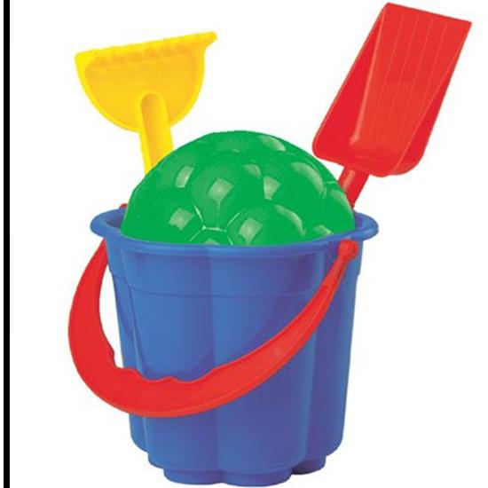 Изображение Игровой набор для песка (Ведерко, формочка, лопатка, грабельки)
