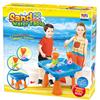 Изображение Стол для игр с песком и водой Hualian Toys «Водяные мельницы» (в комплекте набор для песка из 18 предметов, 48*48*H36)