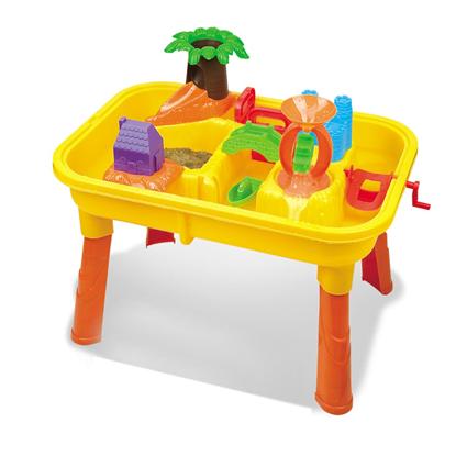 Изображение Стол для игр с песком и водой Hualian Toys «Джунгли» (в комплекте набор для песка из 20 предметов, 62*42*H40)