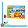Picture of Стол с крышкой и стулом для игр с песком и водой Hualian Toys «Водяная круговерть» (в комплекте набор для песка из 10 предметов, 58*41*H37)