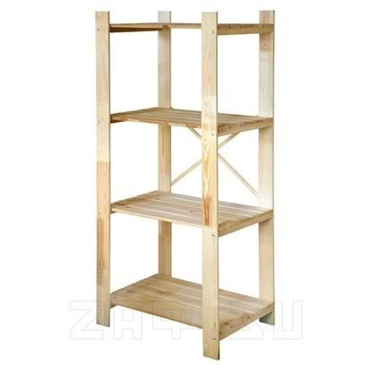 Изображение Стеллаж деревянный 77×174×51 см, 4 полки