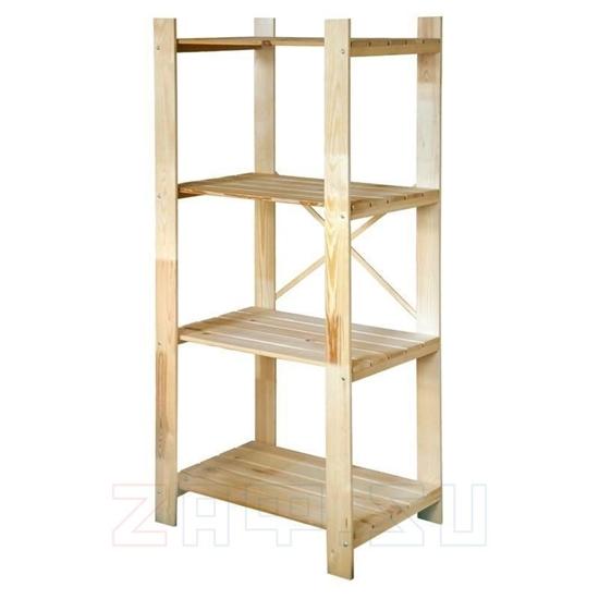 Picture of Стеллаж деревянный 77×174×51 см, 4 полки