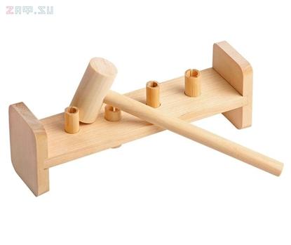 Изображение Деревянная развивающая игра Пелси «Гвозди-перевертыши» (4 гвоздика)