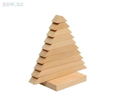 Изображение Деревянная развивающая игра Пелси пирамидка «Елочка»