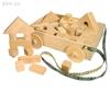 Изображение Деревянный набор геометрических форм в тележке «ПоСТРОЙка»