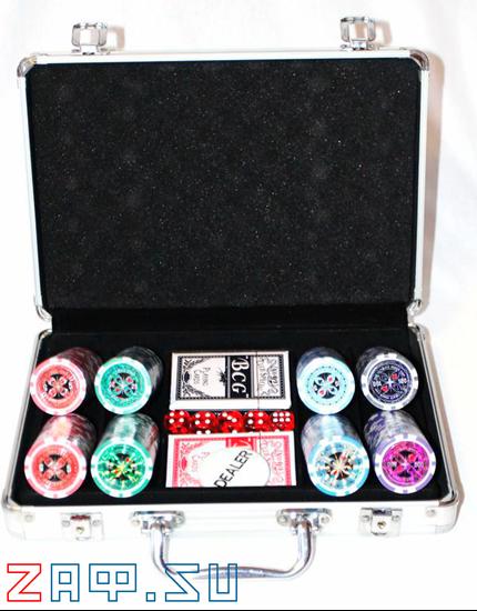 Picture of Покерный набор на 200 фишек, 11,5 грамм.