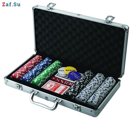 Изображение Покерный набор на 300 фишек, 14 грамм