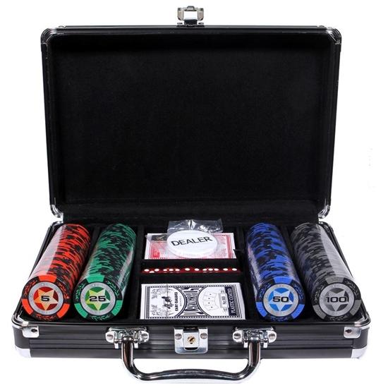 Изображение Набор для покера STARS New на 200 фишек (в алюминиевом кейсе)