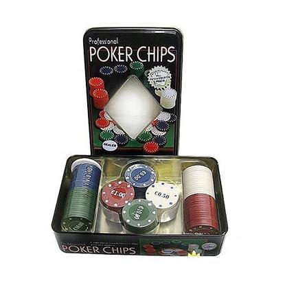 Picture of Покерный набор на 100 фишек в металлической коробке (без карт)