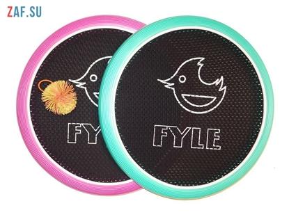 Изображение Набор для игры «FYLE Диск Биг» (Огоспорт), 40 см, розово-мятный