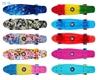 "Picture of Скейт Cruiser Board ""Street Hit"" Crystal Голубой со светящимися красными колесами"