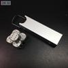 Металлические игральные кости с кейсом, 6 граней, серебро