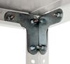 Стеллаж складской металлический, размеры 200×100×50 см, 5 полок, серый