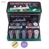 Набор для покера в жестяной коробке, 200 фишек с номиналом