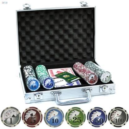 Покерный набор Ultimate Texas Holdem, 200 фишек в чемодане