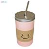 Изображение Керамическая кружка HOME LIFE розовая, 480 мл, арт. YM6040