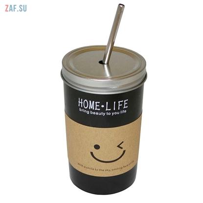 Изображение Керамическая кружка HOME LIFE черная, 480 мл, арт. YM6042