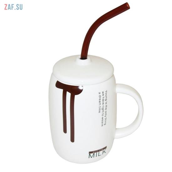 Изображение Керамическая кружка Milk коричневая, 410 мл, арт. HD270-2