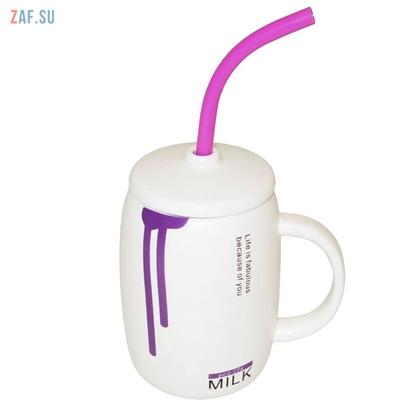 Изображение Керамическая кружка Milk фиолетовая, 410 мл, арт. HD270-4