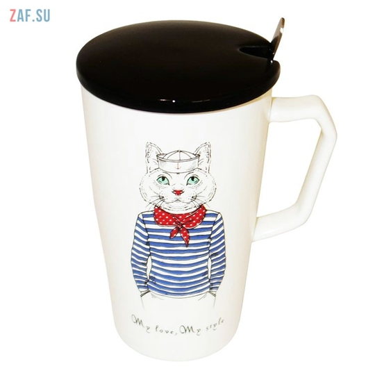Изображение Керамическая кружка My love, My style Кот, 420 мл, арт. HD241