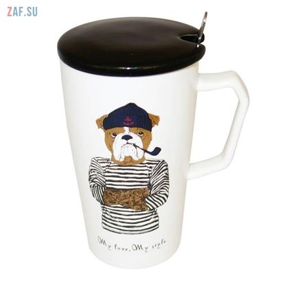 Picture of Керамическая кружка My love, My style Собака, 420 мл, арт. HD243