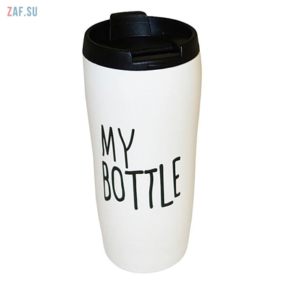 Picture of Керамическая термокружка с крышкой My Bottle белая, 450 мл, арт. HD136