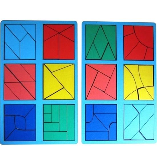 """Развивающее пособие из дерева """"Сложи квадрат, 3 уровень"""""""
