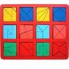 """Развивающее пособие из дерева """"Сложи квадрат"""", 2 уровень (макси)"""
