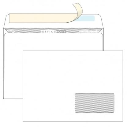 Почтовый конверт С5 ОФИСПОСТ, со стрипом, правое окно (45×90 мм), 1000 шт.