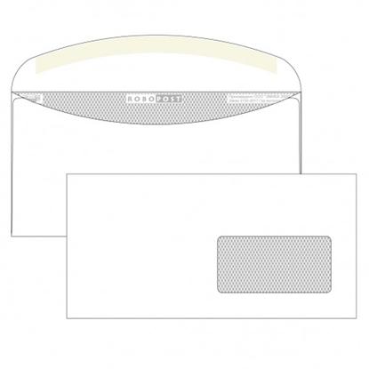 Почтовый конверт С65 РОБОПОСТ, декстрин, правое окно (45×90 мм), 1000 шт.