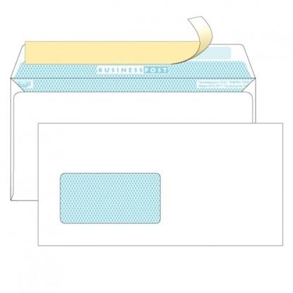 Почтовый конверт DL БИЗНЕССПОСТ, белый со стрипом, левое окно (45×90 мм), 1000 шт.