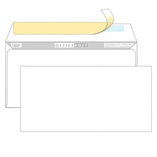Почтовый конверт DL ОФИСПОСТ, со стрипом, 1000 шт.