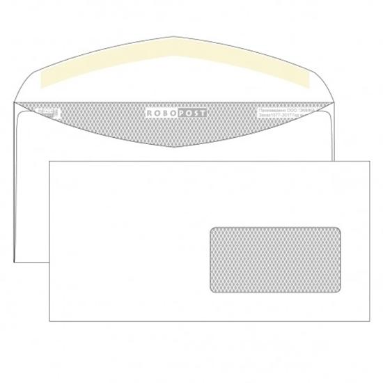 Почтовый конверт DL РОБОПОСТ, декстрин, правое окно (45×90 мм), 1000 шт.