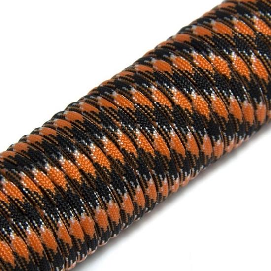 """Паракорд 550,  оранжевый+черный """"Orange+black"""" (4 мм), 30 метров"""